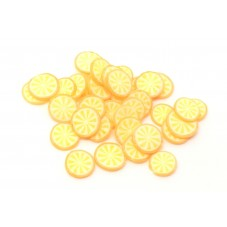 50 Tranches de Cane Fruit Orange Pâte Polymère Fimo pour la Création de Bijoux Fantaisie - DIY