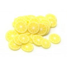 50 Tranches de Cane Fruit Citron Pâte Polymère Fimo pour la Création de Bijoux Fantaisie - DIY