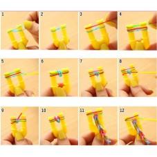 Maxi Boîte Kit Complet 3240 Élastiques Bracelet Loom Bands et Métier à Tisser