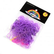 """260 Élastiques Violet Fluo Bracelet Loom Bands + 1 Crochet + 10 Attaches Fermoirs """"S"""""""