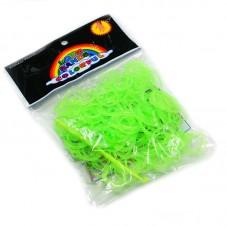 "260 Élastiques Vert Fluo Bracelet Loom Bands + 1 Crochet + 10 Attaches Fermoirs ""S"""