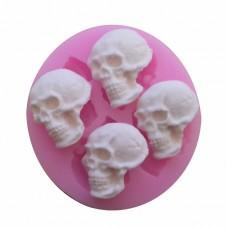 Moule en Silicone Crâne Tête de Mort Gothique Fimo Résine Gâteau
