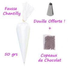 Fausse Chantilly Blanche pour Déco Gourmandise en Fimo 50grs + Douille Offerte