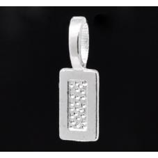 5 Attaches Pendentifs Argentés à Coller 21mm