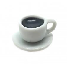 Breloque Tasse de Café Pâte Polymère Fimo 17mm pour la Création de Bijoux Fantaisie - DIY
