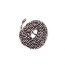 Collier Chaîne à Bille Noir Gunmétal 65cm pour la Création de Bijoux Fantaisie - DIY