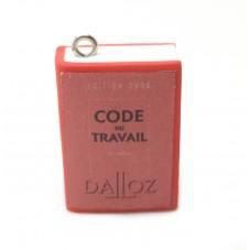 Breloque Livre Code du Travail en Pâte Polymère Fimo 25mm pour la Création de Bijoux Fantaisie - DIY