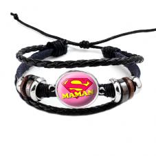 """Bracelet Ajustable """"Super Maman"""" Cadeau Maman Fête des Mères"""