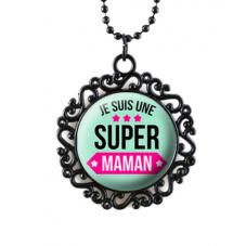 """Collier """"Super Maman..."""" Cadeau Maman Fête des Mères"""