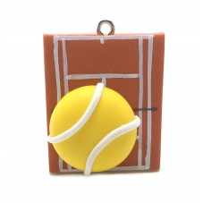 Breloque Sport Tennis en Fimo 30mm