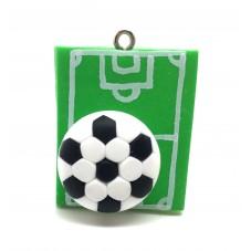 Breloque Sport Football en Fimo 30mm pour la Création de Bijoux Fantaisie - DIY