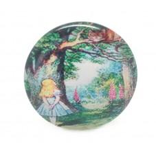Cabochon en Verre Illustré Alice au pays des Merveilles 25mm pour la Création de Bijoux Fantaisie - DIY