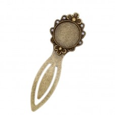 Support Marque-Page, Signet Bronze pour Cabochon 20mm