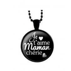"""Collier """"Je t'aime Maman chérie"""" Cadeau Maman Fête des Mères"""