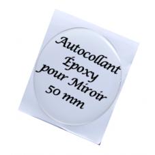 Cabochon Autocollant Sticker pour Miroir en Résine Époxy Haute Qualité 50mm