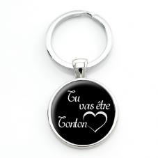 """Porte-Clé """"Tu vas être Tonton"""" Cadeau pour Annonce de Grossesse Naissance"""
