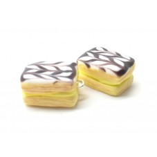 2 Breloques Millefeuille Gourmandise en Fimo 15mm