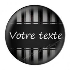 """Cabochon en Résine à Coller """"Texte à personnaliser"""" 25mm"""