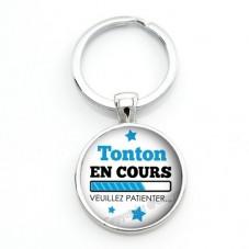 """Porte-clé """"Tonton en cours..."""" Cadeau Original Annonce de Grossesse Naissance"""