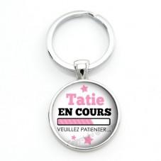 """Porte-clé """"Tatie en cours..."""" Cadeau Original Annonce de grossesse Naissance"""