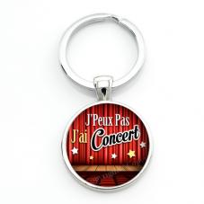 """Porte-clé """"J'peux pas j'ai concert"""" Cadeau Original Humour Anniversaire Noël"""