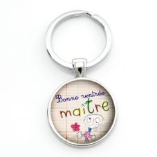 """Porte-clé """"Bonne Rentrée Maître"""" Cadeau Original Début d'Année Scolaire"""