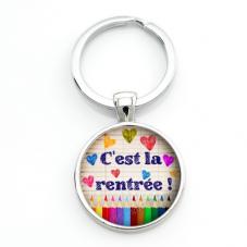 """Porte-clé """"C'est la rentrée!"""" Cadeau Original Début d'Année Scolaire"""