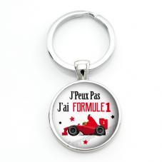 """Porte-clé """"J'peux pas j'ai Formule 1"""" Cadeau Original Humour Anniversaire Noël"""