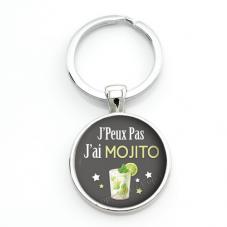 """Porte-clé """"J'peux pas j'ai Mojito"""" Cadeau Original Humour Anniversaire Noël"""