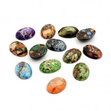 4 Cabochons en Pierre Naturelle 18x25mm