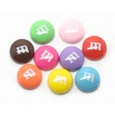 9 Cabochons Bonbons en Résine 14mm pour la Création de Bijoux Fantaisie - DIY