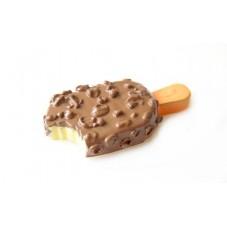 2 Cabochons Glace Chocolat en Résine 24 x11mm