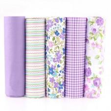 5 Pièces 40x50cm Tissu Coton Textile Couture Scrapbooking