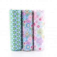 3 Pièces 40x50cm Tissu Coton Textile Couture Scrapbooking