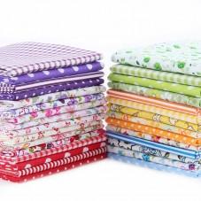 30 Pièces 10x12cm Tissu Coton Textile Couture Scrapbooking