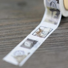 Rouleau de Masking Tape Timbre Vintage 15mmx10m