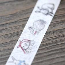 Rouleau de Masking Tape Lapin Pâques 15mmx10m
