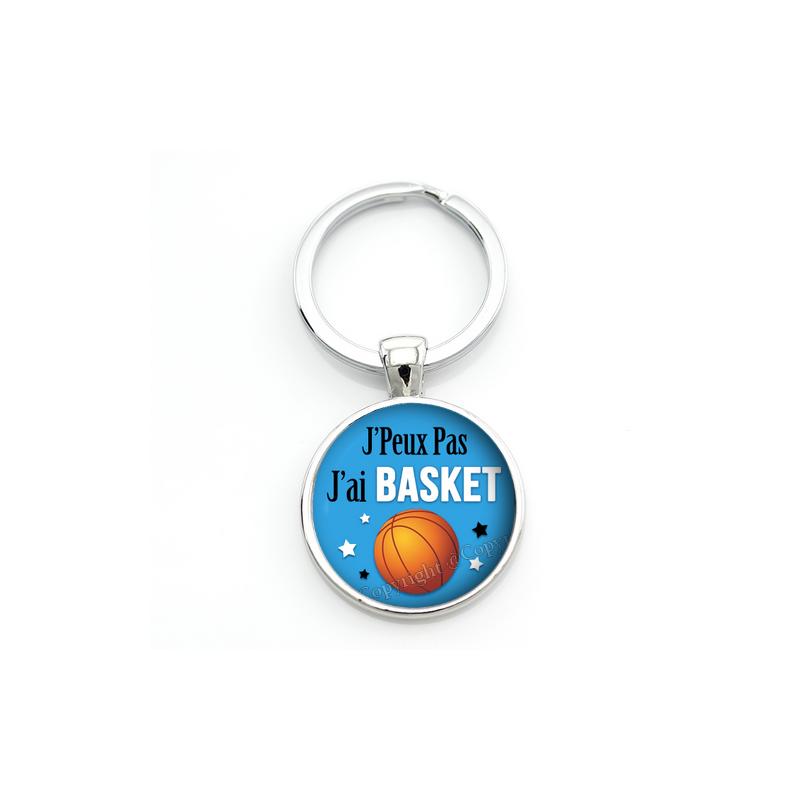 """Porte-clé """"J'peux pas j'ai Basket"""" Cadeau Original Humour Anniversaire Noël"""