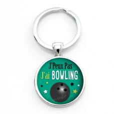 """Porte-clé """"J'peux pas j'ai bowling"""" Cadeau Original Humour Anniversaire Noël"""