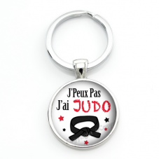 """Porte-clé """"J'peux pas j'ai Judo"""" Cadeau Original Humour Anniversaire Noël"""