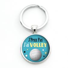 """Porte-clé """"J'peux pas j'ai Volley"""" Cadeau Original Humour Anniversaire Noël"""