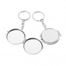Porte-Clé en Métal à Customiser - Double Miroir Intérieur