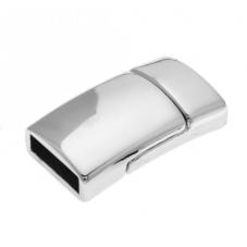 Fermoir Aimanté Magnétique Argenté Bracelet Manchette 10x2.5mm