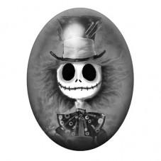 Cabochon en Verre Illustré Le Chapelier Fou Jack 13x18, 18x25 ou 30x40mm pour la Création de Bijoux Fantaisie - DIY