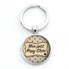 """Porte-clé """"Mon petit Papy Chéri"""" Cadeau Fête des Grands-Pères Anniversaire Noël"""