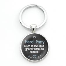 """Porte-clé """"Merci Papy"""" Cadeau Fête des Grands-Pères Anniversaire Noël"""