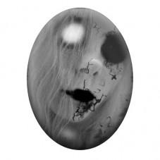 Cabochon en Verre Illustré Femme Horreur Gothique 30x40mm