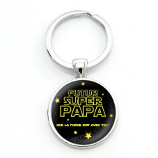 """Porte-clé """"Futur Super Papa"""" Cadeau Original Annonce de Grossesse Naissance"""