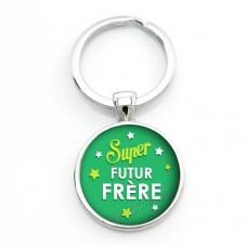 """Porte-clé """"Super Futur Frère"""" Cadeau Original Annonce de Grossesse Naissance"""