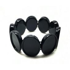 Support Bracelet Élastique Noir pour Cabochon 18x25mm